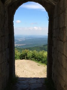 The entryway to Montsegur Castle